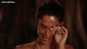 Francesca Lodo piange