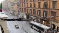 Forte grandinata a Roma