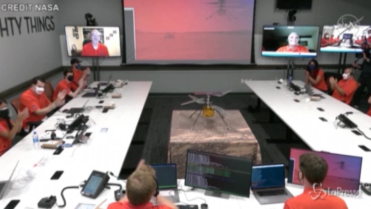 Marte: primo volo per l'elicottero della Nasa