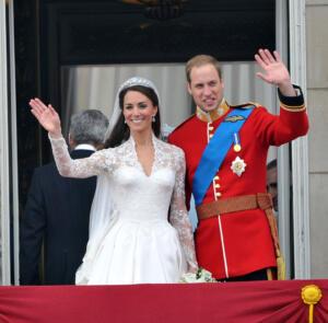 Nozze reali tra il Principe Williams del Galles e Catherine Middleton.