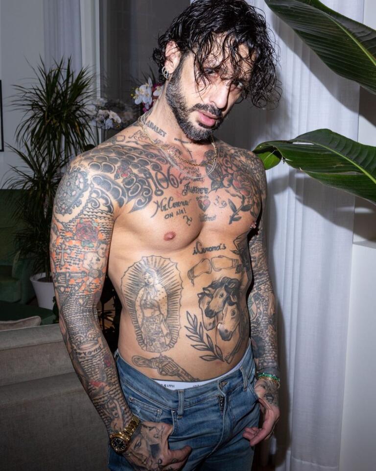 Fabrizio Corona tatuaggi