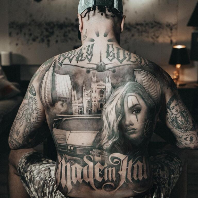 Guè Pequeno tatuaggi