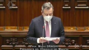 Pnrr, Draghi cita De Gasperi