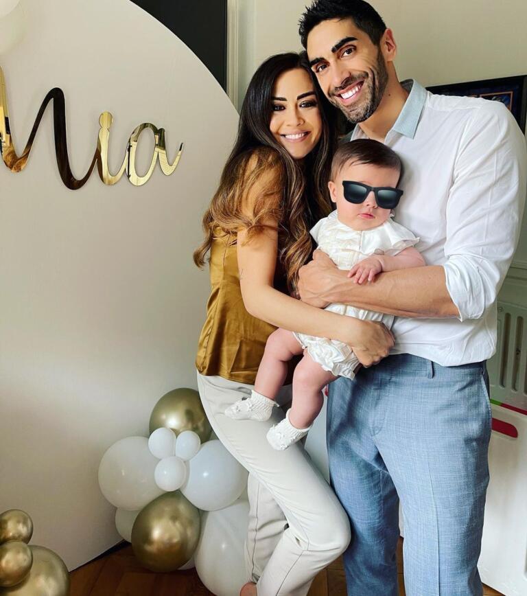 Magnini e Palmas con la figlia Mia. Foto di Instagram
