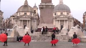 Danza, il sit in di protesta in Piazza del Popolo