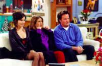 Friends: Courteney Cox Arquette, Jennifer Aniston, Matthew Perry.