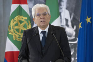 Roma, celebrazioni al Quirinale per l'anniversario della liberazione d'Italia