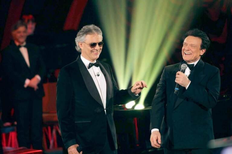 Massimo Ranieri con Andrea Bocelli