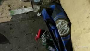 devastazione dopo la festa scudetto dell'Inter
