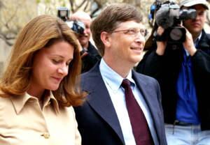 Bill Gates con la moglie Melinda