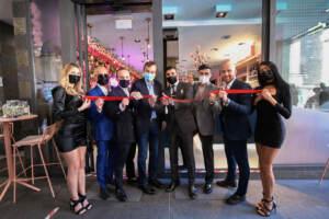 Inaugurazione del Passion Cafè, il taglio del nastro