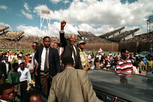 Nelson Mandela presidente del Sudafrica