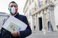 Crisi di Governo, Matteo Salvini esce dalla riunione del centrodestra
