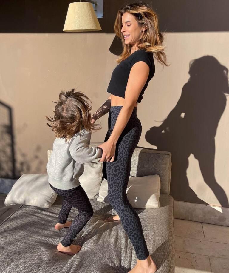 Elisabetta Canalis con la figlia Skyler Eva