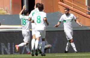 Berardi Domenico esulta dopo il gol del 0-2