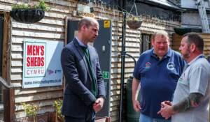 Il Principe William in visita a Rhyl