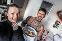 Lucas Peracchi e Mercedesz Henger su Instagram