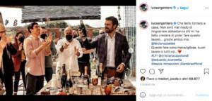 Il post di Luca Argentero su Instagram