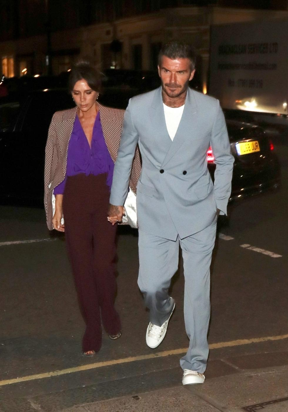 David e Victoria Beckham ad una cena a Londra