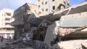 Edificio distrutto a Gaza dopo i bombardamenti