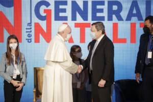 Papa Francesco e Mario Draghi aprono gli Stati generali della natività