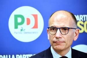 Roma: il segretario del Pd, Enrico Letta, all'iniziativa 'Sport bene sociale'