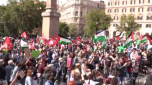 """Roma, manifestazione per la """"Giornata dell'orgoglio palestinese"""""""