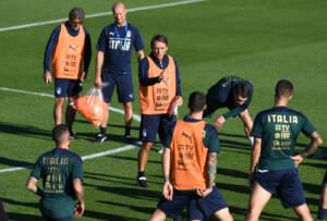 Nazionale, azzurri in allenamento a Coverciano