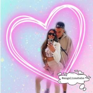 Sfera Ebbasta con Angelina Lacour da Instagram