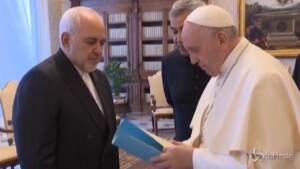 Vaticano, il Papa riceve il ministro degli Esteri iraniano Zarif