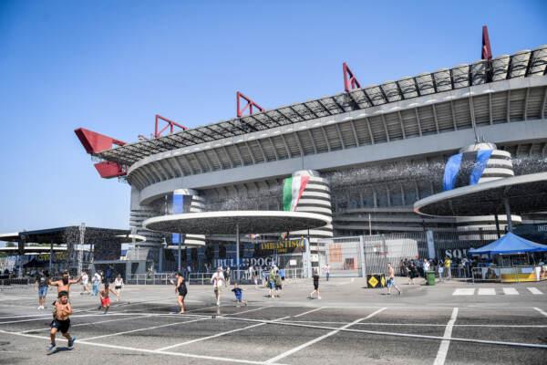 Festa della Curva Nord dell' Inter presso il piazzale dello Stadio San Siro
