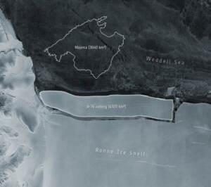 In Antartide si stacca il più grande iceberg al mondo