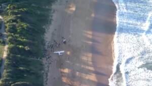 Australia, ultraleggero effettua atterraggio d'emergenza in spiaggia