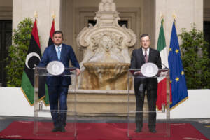 Presidente del Consiglio Draghi, incontra il Primo Ministro del Governo di Unità Nazionale della Libia Dabaiba
