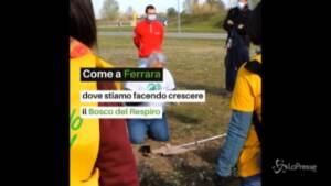Legambiente: nuove piantumazioni al Bosco del Respiro di Ferrara