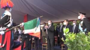 Festa dei Carabinieri: Draghi consegna all'Arma medaglia d'oro al merito civile