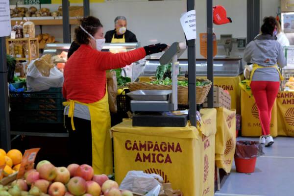 Coronavirus, Roma: riapre il mercato Campagna Amica al Tiburtino