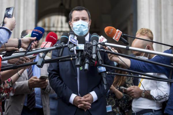 Palazzo Chigi - Mario Draghi incontra Matteo Salvini