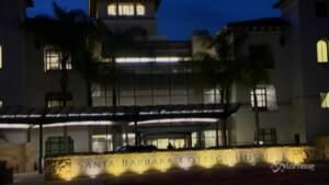 Veduta notturna ospedale californiano
