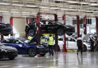 L'azienda statunitense di auto elettriche Tesla a Shanghai