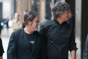 Fiorello e Marco Baldini fanno shopping insieme