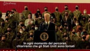 """Biden in Europa: """"Gli Usa sono tornati"""""""