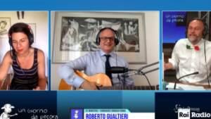 'Un Giorno da Pecora', Roberto Gualtieri suona i Maneskin