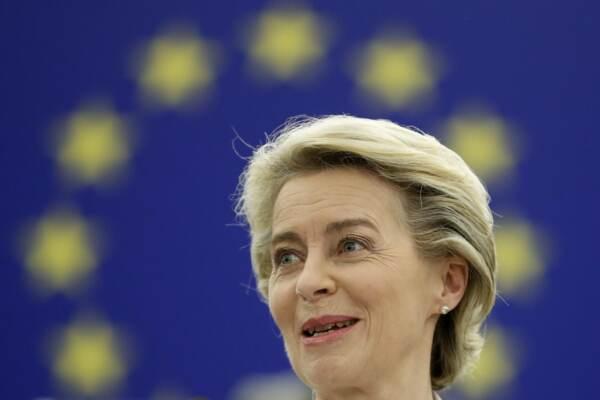 Parlamento europeo, Intervento di Ursula von der Leyen al dibattito a Strasburgo