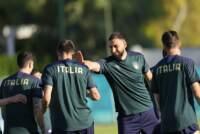 Euro 2020, sessione di allenamento della nazionale di calcio dell'Italia