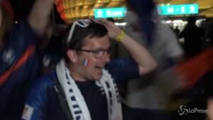 Euro 2020, i tifosi francesi celebrano la vittoria sulla Germania