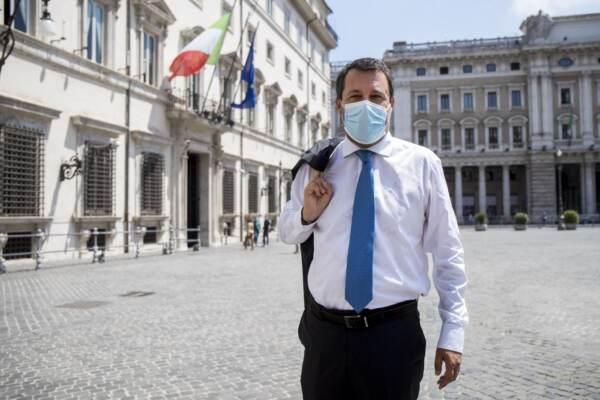 Palazzo Chigi - Incontro tra Mario Draghi e Matteo Salvini