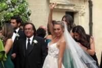 Matrimonio Carrisi Cristel e Davor Luksic a Lecce nella Chiesa San Matteo
