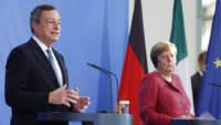 Il premier Mario Draghi e la cancelliera tedesca Angela Merkel