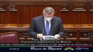 """Green pass, Draghi: """"Turisti vengano in Italia, aiutiamo operatori settore"""""""